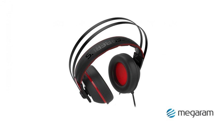 Asus Cerberus V2 gamer mikrofonos fejhallgató fekete-piros Mikrofonos  fejhallgató e3244c3ce1