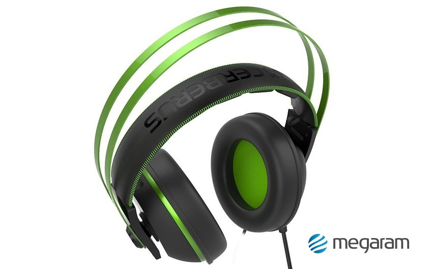 Asus Cerberus V2 gamer mikrofonos fejhallgató fekete-zöld Mikrofonos  fejhallgató 1cb4197366