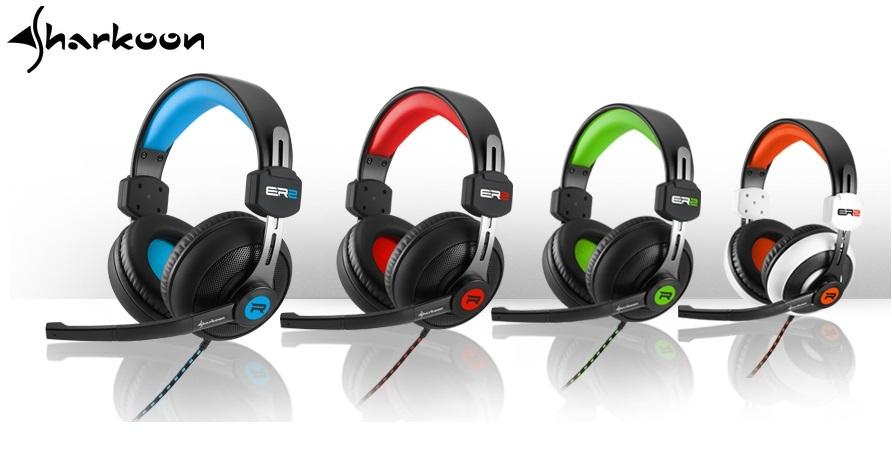 Sharkoon Rush ER2 mikrofonos fejhallgató zöld Mikrofonos fejhallgató ... 712a474c5e