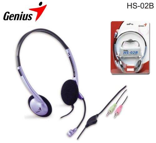 Genius HS 02B mikrofonos fejhallgató
