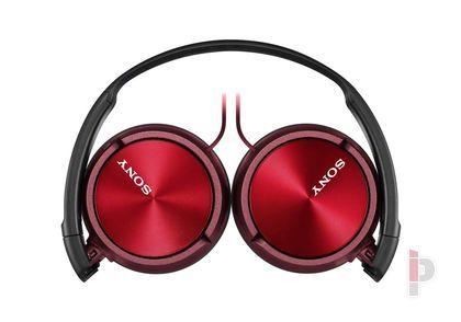 Sony MDR ZX310AP összecsukható mikrofonos fejhallgató piros